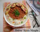 Bubur Ayam Simple langkah memasak 6 foto
