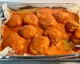 Pieczone pulpety z kaszą jaglaną w sosie z pieczonej papryki i pomidorów 🍅🌶 krok przepisu 4 zdjęcie