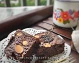 Fudgy brownies dari putih telur langkah memasak 7 foto