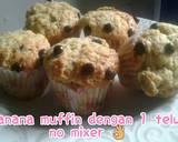 Banana mufin 1 telur.no mixer.no ribet langkah memasak 4 foto