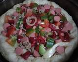 Pizza teflon langkah memasak 14 foto