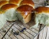 Roti Sobek Bunga Telang langkah memasak 19 foto