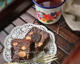 Fudgy brownies dari putih telur langkah memasak 8 foto