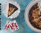 Black Pizza langkah memasak 9 foto