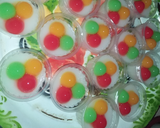 Cemilan & Jajanan Rainbow~Puding Susu Bola Rainbow langkah memasak 3 foto
