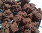 Bolu kukus coklat langkah memasak 3 foto