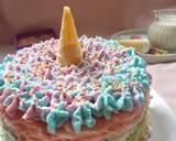 Unicorn MilleCrepes / Unicorn Crepes Cake langkah memasak 11 foto