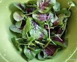 Sayur Bayam Bicolor Sosis langkah memasak 1 foto