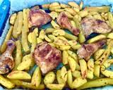 Kawałki kurczaka pieczone na cukinii i ziemniakach krok przepisu 3 zdjęcie