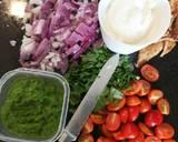 Chicken, Chickpeas in refreshing coriander yogurt sauce recipe step 1 photo