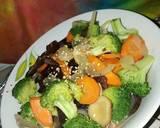 Brokoli kuah jamur langkah memasak 9 foto