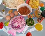 Stir fried rice with minced meat and sunny side up egg recipe step 1 photo