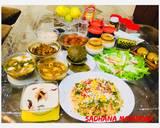 Potato Butter Masala,Mater-Paneer,Khatta -Meetha Kaddu,Spinach Pooris recipe step 24 photo