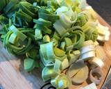 Leeks and cabbage with chorizo and apple recipe step 1 photo
