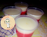 Puding merah putih horee langkah memasak 4 foto