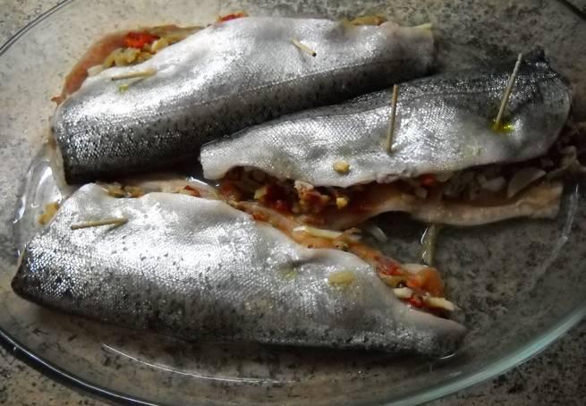 4 Truchas Rellenas Con Jamón Y Setas