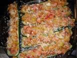 Foto del paso 6 de la receta Calabacines rellenos de salchichas de ave