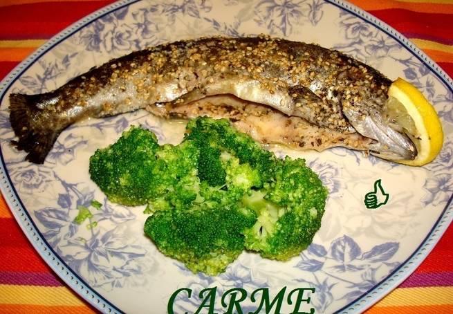 4 Trucha Con Crujiente De Sésamo
