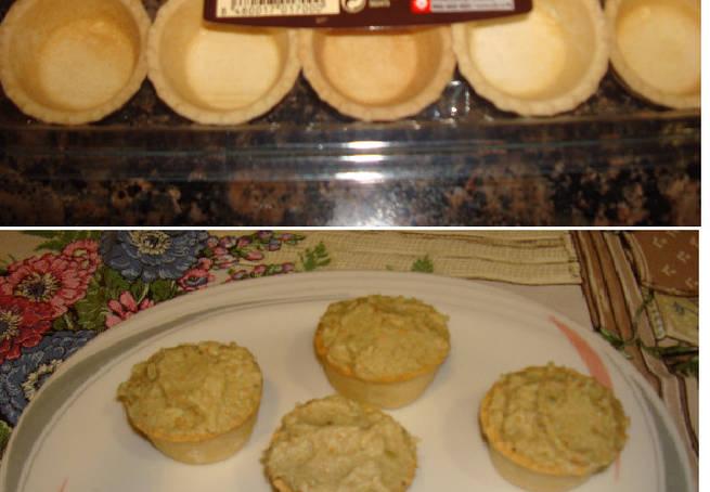 4 Mini Tartaletas Con Crema De Aguacate